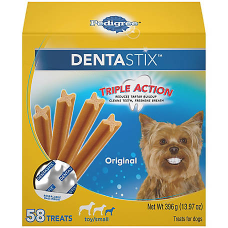 DENTASTIX Dentastix Original Treat, Toy/Small, Pack of 58