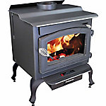 Vogelzang Defender Wood Stove with Blower and Legs, 1,200 Sq. ft., TR001BL