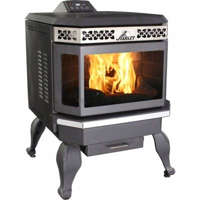 - Ashley Pellet Stove, 2,200 Sq. Ft. With Bay Front - For Life Out Here