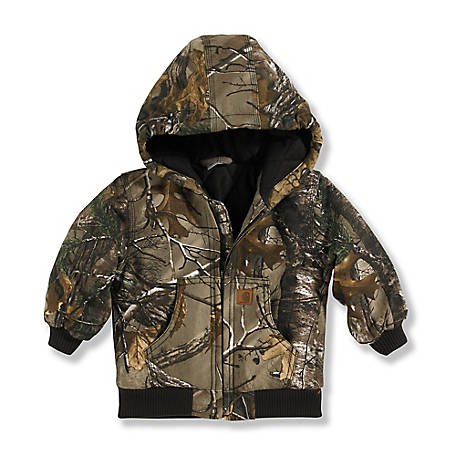 6f1732f38 Carhartt Boys  Infant Camo Active Jac Quilted Flannel Lined Jacket at ...