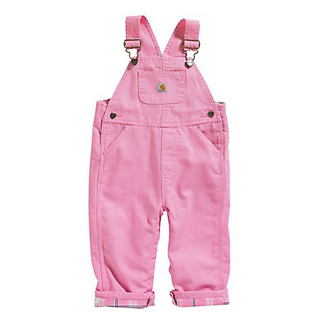 Carhartt Girls' Lined Bib Overalls