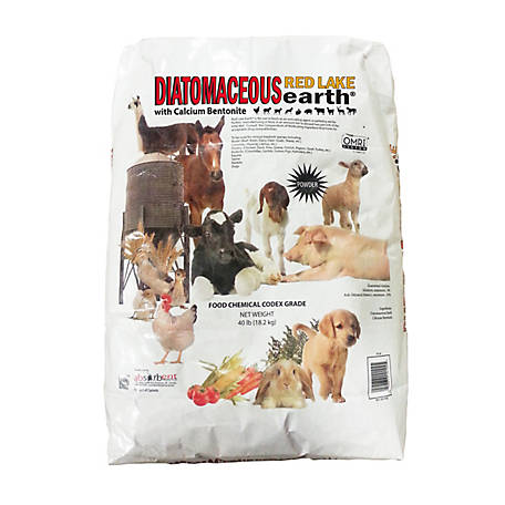 Red Lake Earth Diatomaceous Earth with Calcium Bentonite, 40 lb.