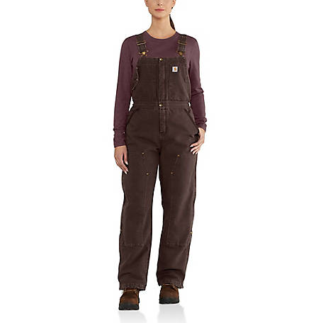 Carhartt Women's Weathered Duck Wildwood Bib Overalls