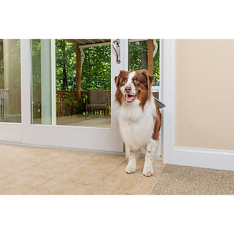 PetSafe Freedom Aluminum Patio Panel Sliding Glass Pet Door, 81 in.