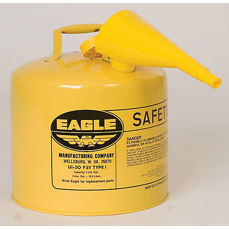 Eagle Type I Diesel Safety Can, 5 gal., CARB Compliant, F2218134