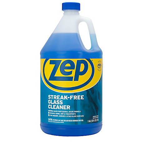 Zep Commercial Streak-Free Glass Cleaner, 128 oz., ZU11201282