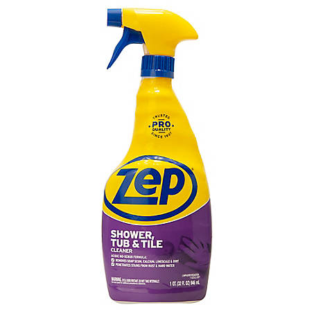 Zep Commercial Shower, Tub & Tile Cleaner, 32 oz., ZUSTT32PF4