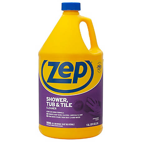 Zep Commercial Shower, Tub & Tile Cleaner, 128 oz., ZUSTT1282