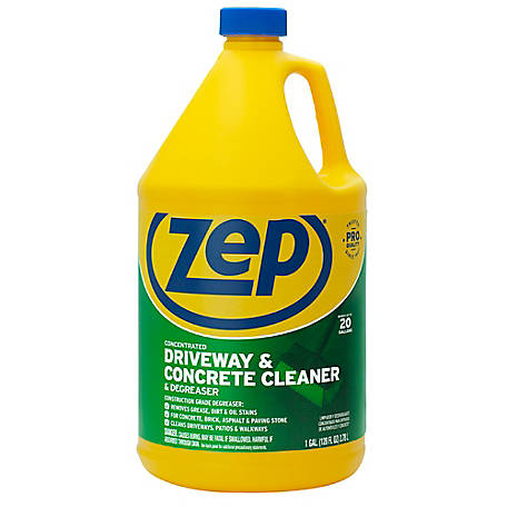 Zep Commercial Driveway, Concrete & Masonry Cleaner, 128 oz., ZUCON1282