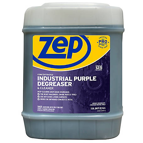 Zep Commercial Concentrate Industrial Purple Degreaser and Cleaner, 5 gal., ZU08565G