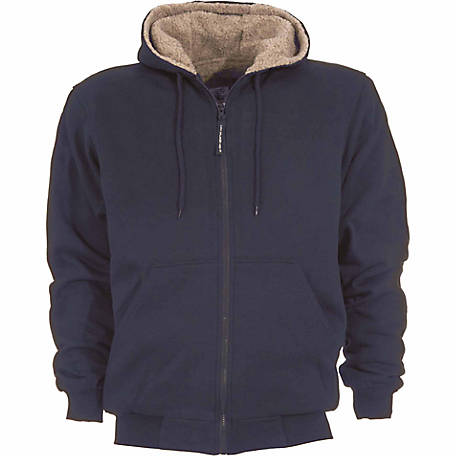 7162c623 C.E. Schmidt Men's Sherpa-Lined Zip-Front Hooded Sweatshirt at ...