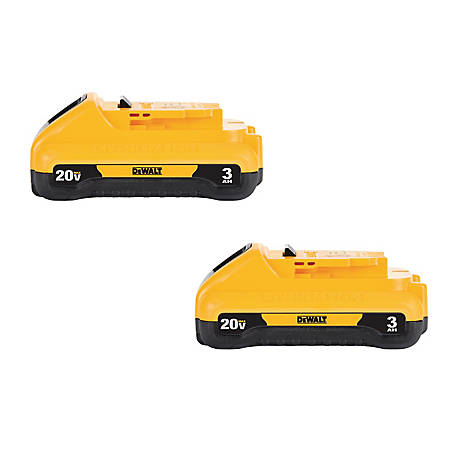DeWALT 20-Volt MAX Li-Ion 3.0 Ah Battery 2-Pack
