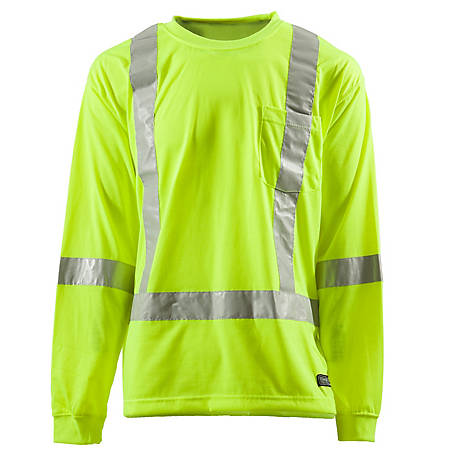 C.E. Schmidt Men's Class 3 Hi-Vis Long Sleeve Pocket T-Shirt