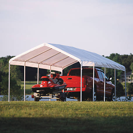 ShelterLogic 12 ft. x 26 ft. White Canopy Replacement Cover, Fits 2 in. Frame