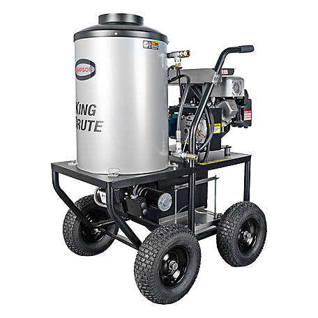 SIMPSON King Brute 3000 PSI at 2.8 GPM BRIGGS & STRATTON with CAT Triplex Plunger Pump Gas Pressure Washer, 65100