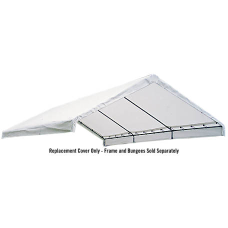 ShelterLogic Super Max 18 ft. x 20 ft. Premium Canopy Replacement Cover, Fits 2 in. Frame, White