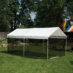 ShelterLogic Max AP 2-in-1 Canopy Pack 10 ft. x 20 ft. with Screen Enclosure Kit & ShelterLogic Max AP 2-in-1 Canopy Pack 10 ft. x 20 ft. with Screen ...