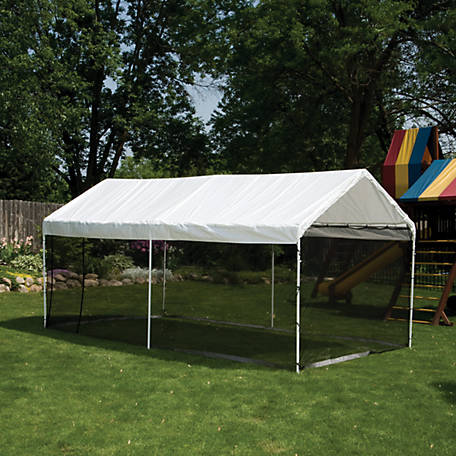 ShelterLogic Max AP 2-in-1 Canopy Pack 10 ft. x 20 ft. with Screen Enclosure Kit