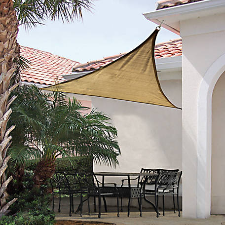 ShelterLogic ShadeLogic Sun Shade Sail, Heavy Weight, Triangle