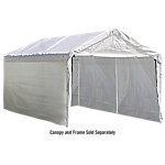 ShelterLogic Super Max 12 ft. x 20 ft. White Canopy Enclosure Kit