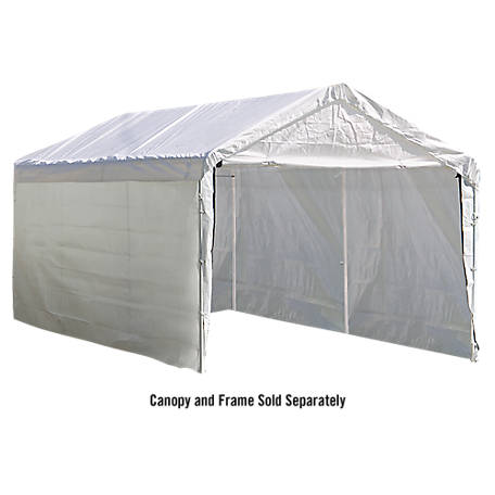 ShelterLogic Super Max 10 ft. x 20 ft. White Canopy Enclosure Kit