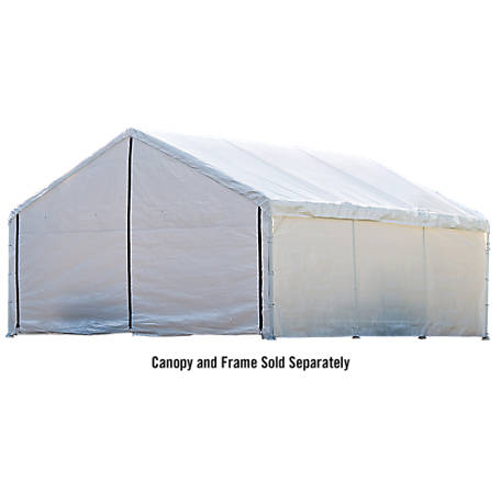 ShelterLogic Super Max 18 ft. x 20 ft. White Canopy Enclosure Kit