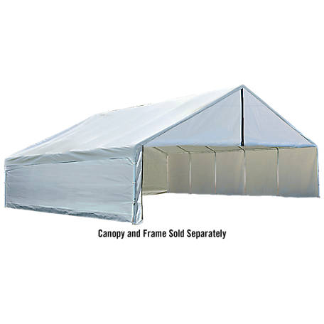ShelterLogic Ultra Max 30 ft. x 30 ft. White Industrial Canopy Enclosure Kit