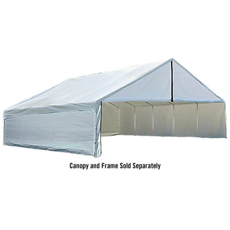 ShelterLogic 30 ft. x 40 ft. Ultra Max White Industrial Canopy Enclosure Kit