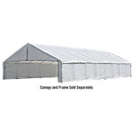 ShelterLogic Ultra Max 30 ft. x 50 ft. White Industrial Canopy Enclosure Kit, Fits 2 3/8 in. Frame