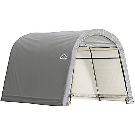 ShelterLogic Shed In A Box 10 Ft. X 10 Ft. X 8 Ft. RoundTop Storage Shed,  Gray At Tractor Supply Co.