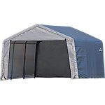 ShelterLogic Shed-in-a-Box 12 ft. x 12 ft. x 8 ft. Peak Style Storage Shed, Gray