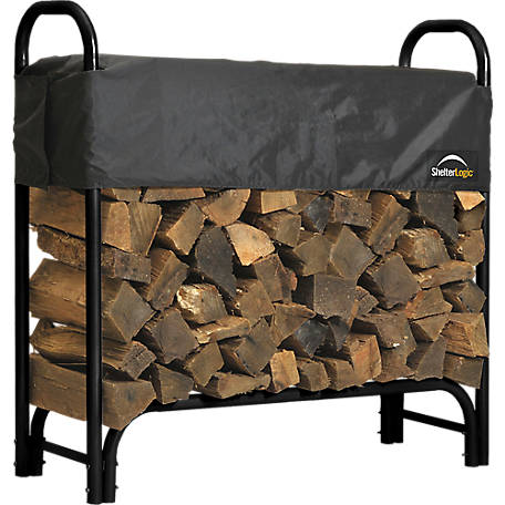 ShelterLogic Firewood Rack-in-a-Box Heavy Duty Rack with Cover, 4 ft.