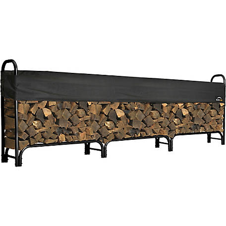 Shelterlogic Firewood Rack In A Box Heavy Duty With Cover 12 Ft At Tractor Supply Co