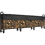ShelterLogic Firewood Rack-in-a-Box Heavy Duty Rack with Cover, 12 ft.