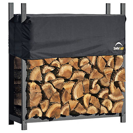 Shelterlogic Firewood Rack In A Box Ultra Duty With Cover 4 Ft