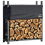 ShelterLogic Firewood Rack-in-a-Box Ultra Duty Rack with Cover, 4 ft.