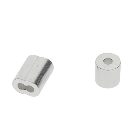 National Hardware 3/32 in. Ferrules and Stops Aluminum, N830-351