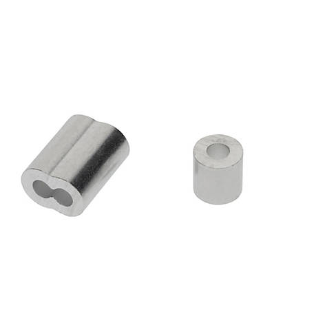 National Hardware 1/8 in. Ferrules and Stops Aluminum, N830-352
