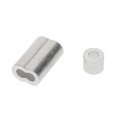National Hardware 3/16 in. Ferrules and Stops Aluminum, N830-354