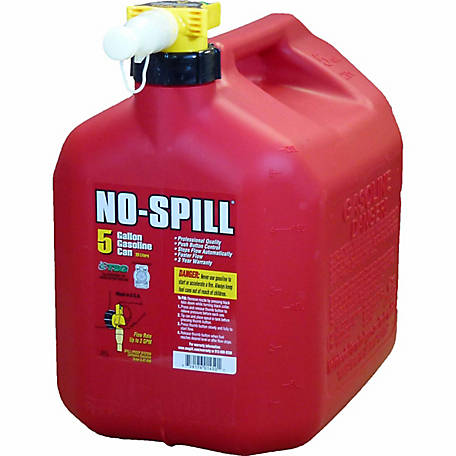NO-SPILL Gas Can, 5 gal., 1450
