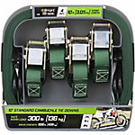SmartStraps 10 ft. Green Cambuckle, 300 lb., Pack of 4