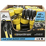 SmartStraps 48 in. Yellow Flat Strap Bungee, Pack of 2