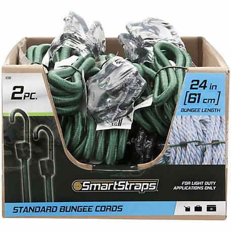 SmartStraps 24 in. Green Standard Bungee, Pack of 2