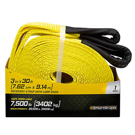 SmartStraps Recovery Strap with Loop Ends, 30 ft., 7,500 lb.