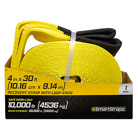 SmartStraps Recovery Strap with Loop Ends, 30 ft., 10,000 lb.