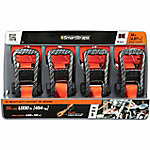 SmartStraps 14 ft. Orange Premium CarbonX Tie Down, 1000 lb. Pack of 4