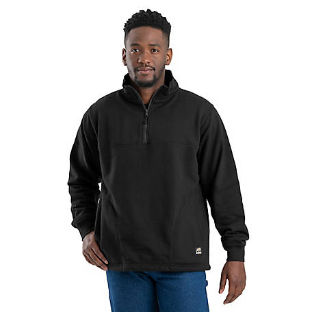 Berne Men's Thermal-Lined Quarter-Zip Front Sweatshirt