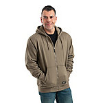 Berne Men's Thermal-Lined Zip-Front Hooded Sweatshirt