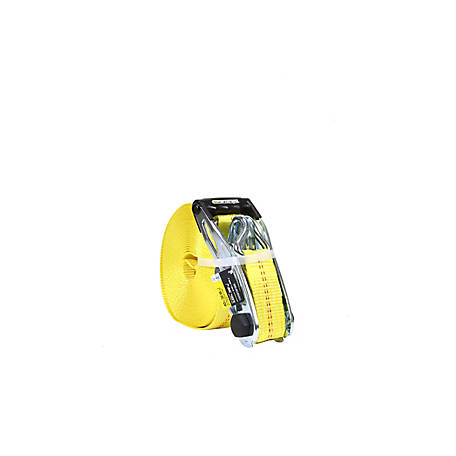 SmartStraps 40 ft. Yellow Hay Bale Ratchet with J Hook, 3333 lb.