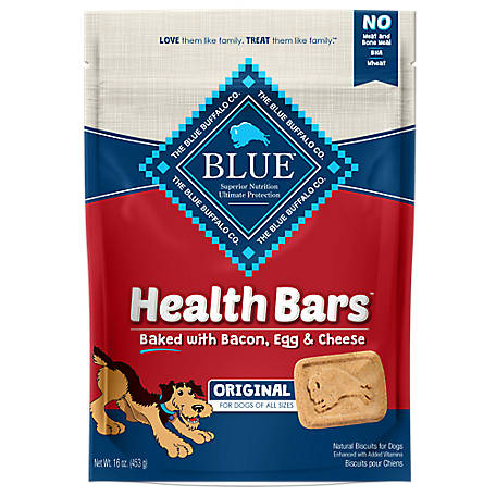 Blue Buffalo BLUE Health Bars Baked with Bacon, Egg & Cheese Crunchy Dog Treat Biscuits, 16 oz.